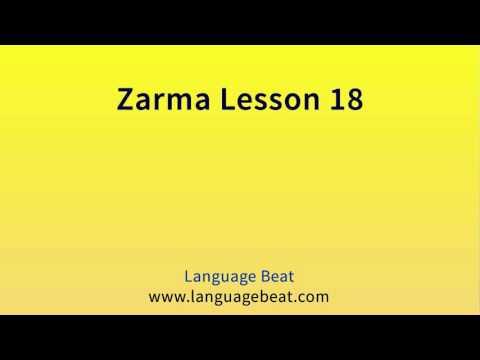 Learn Zarma   :  Lesson 18  -  Zarma  Phrases for Beginners