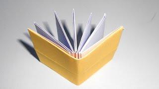 Origami book - how to make paper. Оригами книжка. Простая поделка из бумаги для начинающих