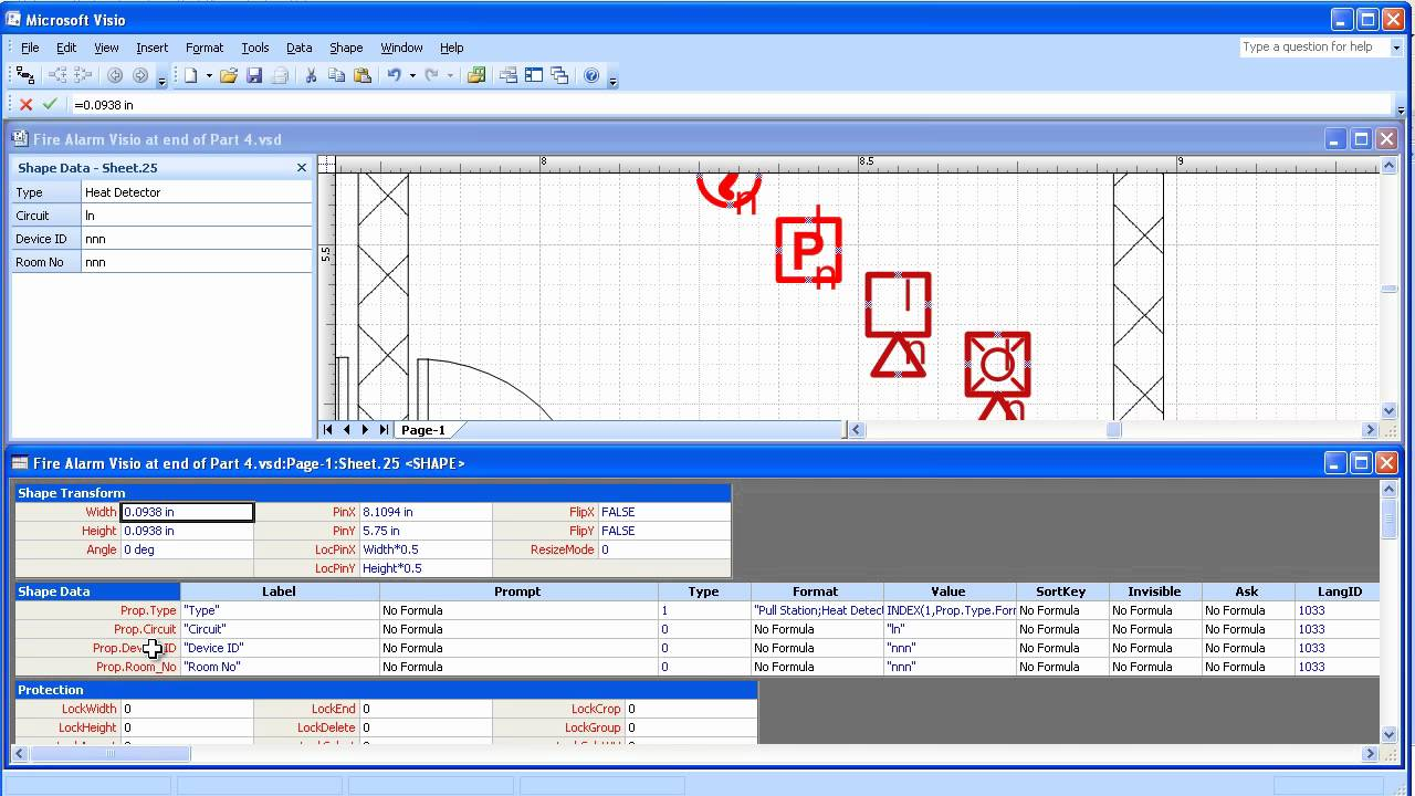 Visio 20032007 Electrical Systems Drawing Part 5 Create Symbol