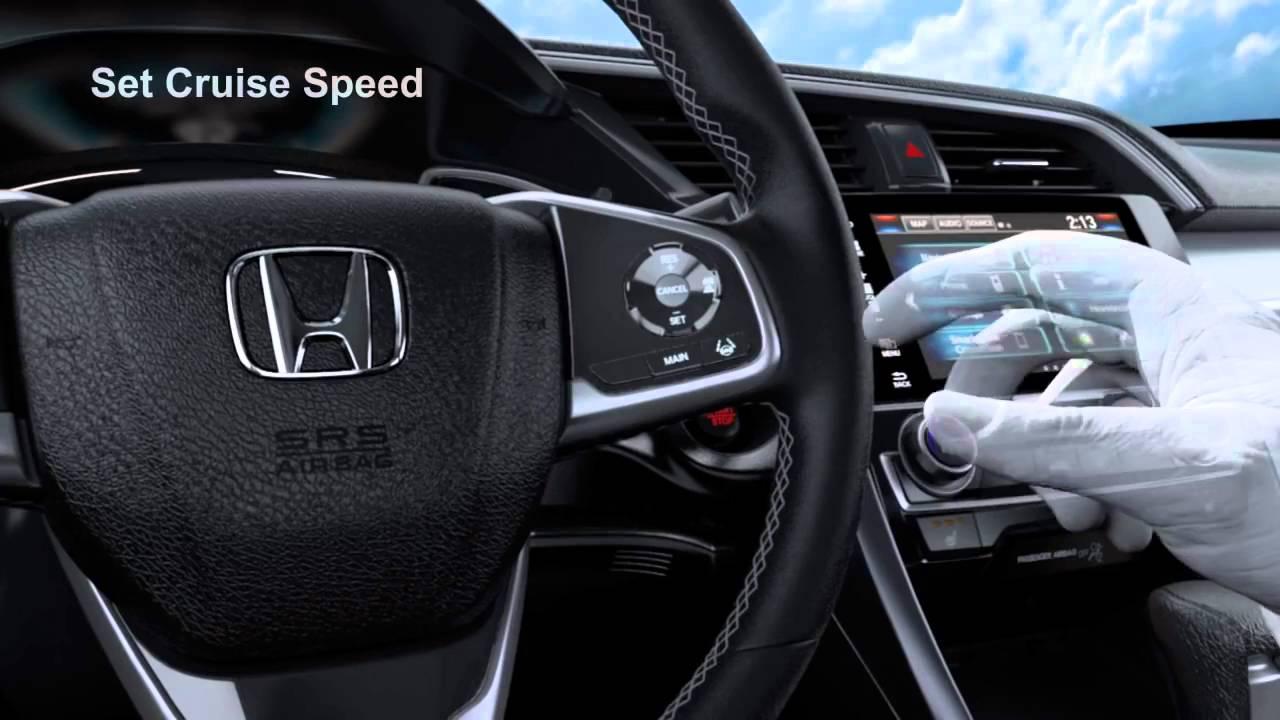 2016 Honda Civic Sedan Adaptif Hız Ayarlayıcı Youtube