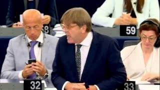 Nigel Farage ; Mr Verhofstadt is EU