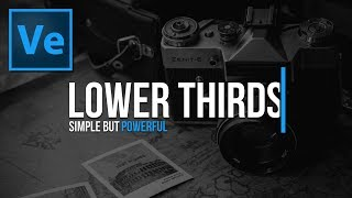 Create This SIMPLE But POWERFUL Lower Third Title! Sony Vegas Tutorial