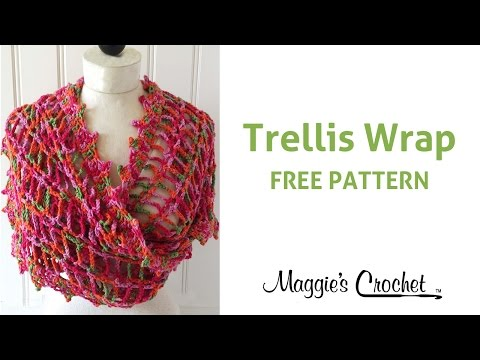 Trellis Wrap Free Crochet Pattern – Right Handed