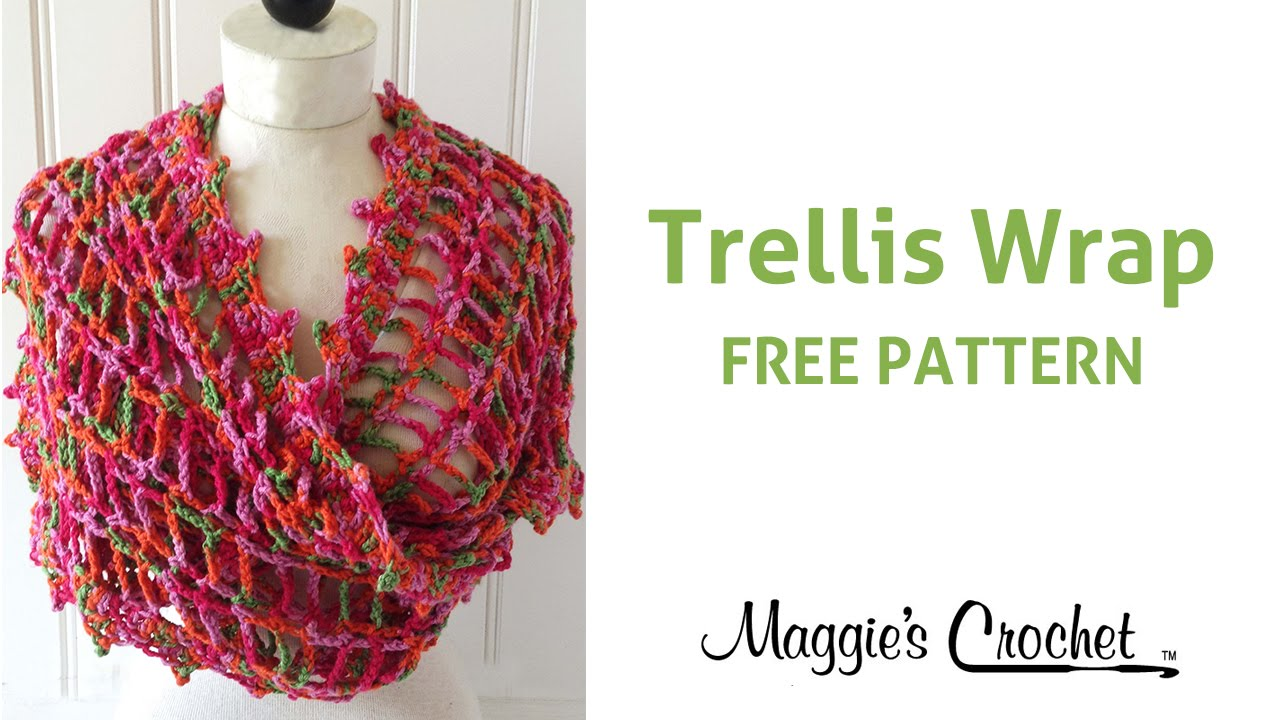 Trellis Wrap Free Crochet Pattern - Right Handed - YouTube