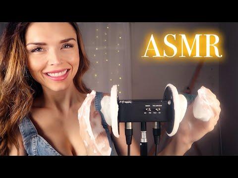 ASMR // Ear Massage with Shaving Cream [NO TALKING]