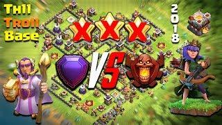 TH11 Legend League Troll Base /Trophy Bases | Legend VS Champion Replay | Clash Of Clans