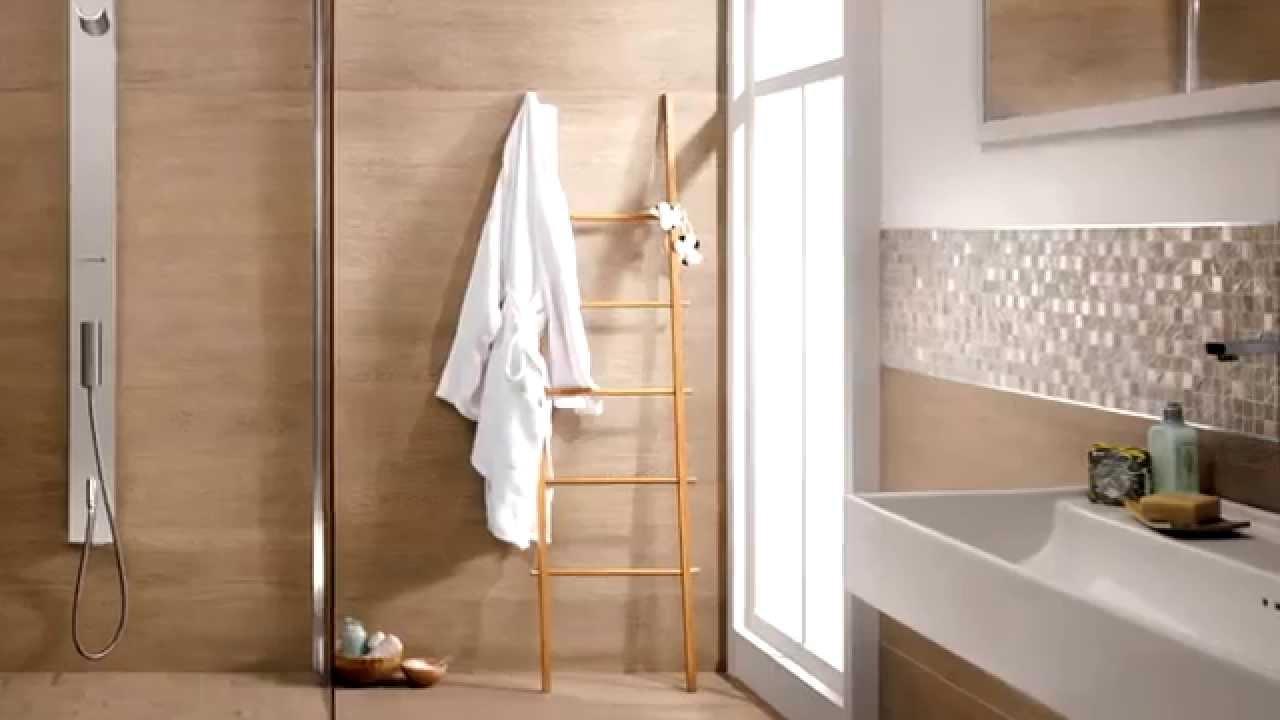 La premiere pavimento in gres finto legno effetto rovere woodlook tiles youtube - Bagno finto legno ...