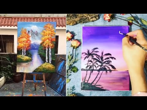Senary Painting easy tutorial || Watercolour Painting For Beginners