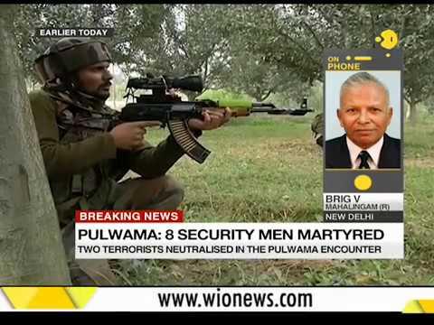 Gunbattle with terror: 8 Security men martyred