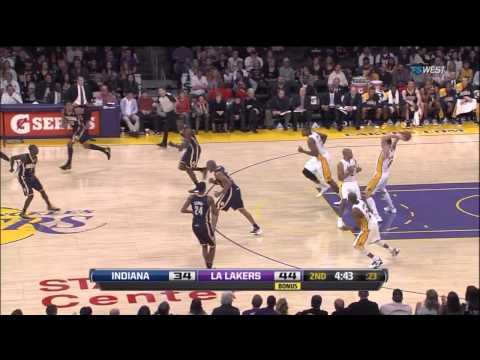01 22 2012   Pacers vs  Lakers   Team Highlights