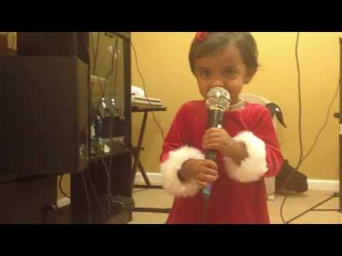 2 year old Angelina singing a song
