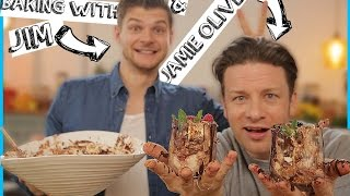 Baking With Jim & Jamie Oliver!