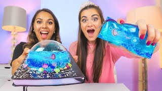 If My School Supplies were UNDERWATER! DIY Jelly School Supplies 2018 with Natalies Outlet