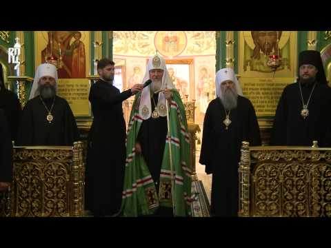 Патриарх Кирилл посетил Воскресенский храм в городе Плёс Ивановской области