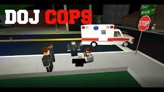 ROBLOX DOJ Cops #8 - Stolen Police Vehicle Pursuit! (Law Enforcement)