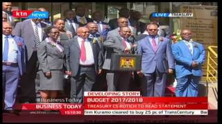 Kenyan Budget 2017/2018  - Finance CS Henry Rotich shows the Budget Briefcase