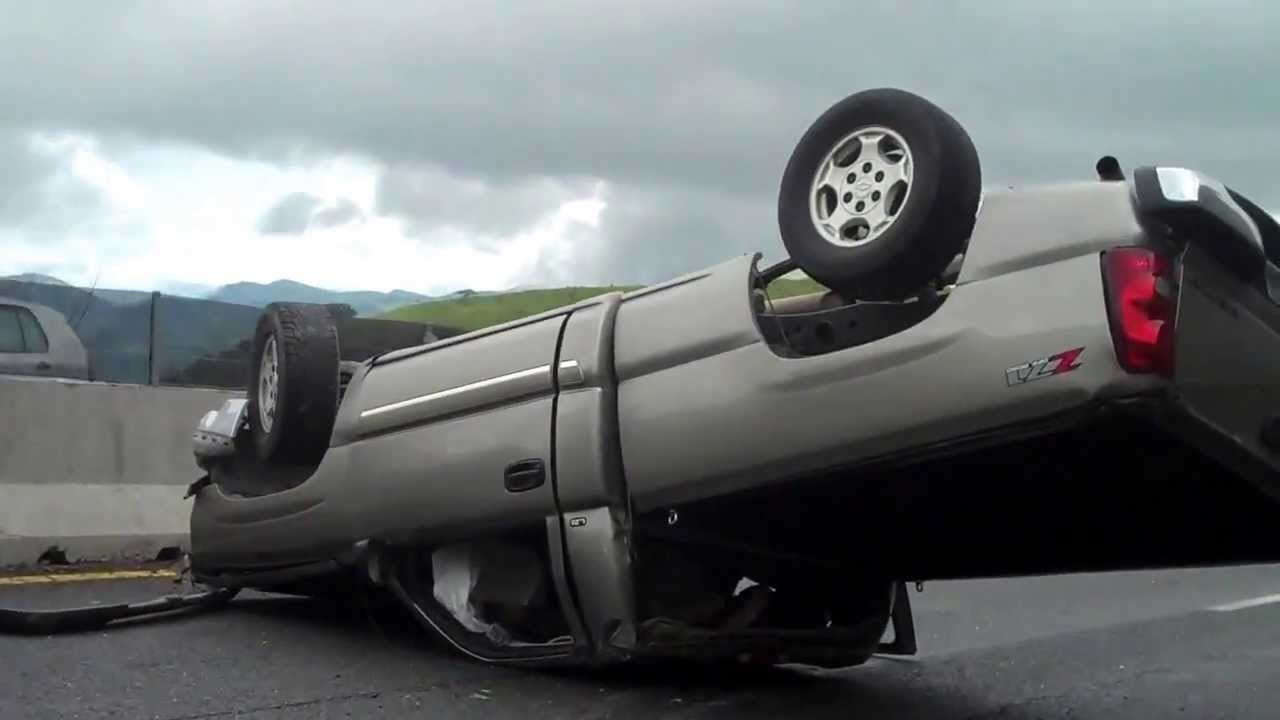 BRAND NEW CHEVY TRUCK Z71 ROLL OVER - YouTube