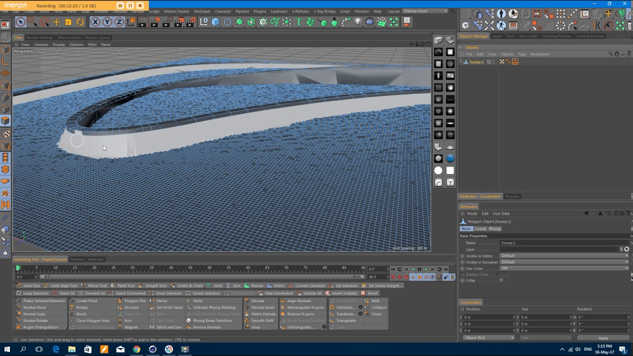 C4D modeling road and terrain