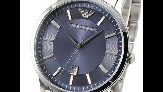 emporio armani ar2477 mens watch classic silver blue エンポリオアルマーニ シルバー ブルー レビュー メンズ