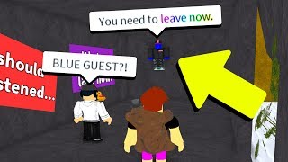 HUNTING FOR THE BLUE GUEST!! *BAD IDEA* (Roblox)