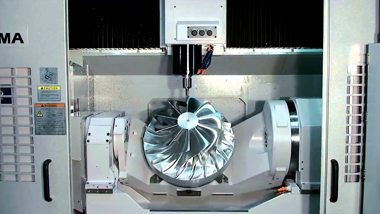 Okuma's 5-Axis Vertical Machining Center, MU-500VA - YouTube