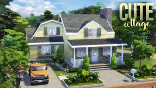 CUTE COTTAGE w/ATTIC CRAFT ROOM + GIVEAWAY    STOP MOTION    The Sims 4: Nifty Knitting NO CC Build
