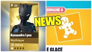 NEWS: NEW EFA AND NEW MYTHICAL: KASSANDRA LYNX (A NINJA AGILE) FORTNITE Save the World