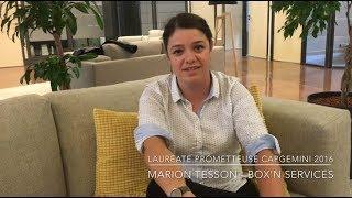 Marion Tesson, Box'N services - Lauréate Capgemini : 1 an après #FDO16