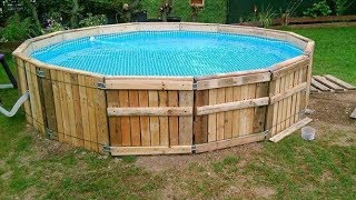 DIY Build a Pool Made from Pallets ...
