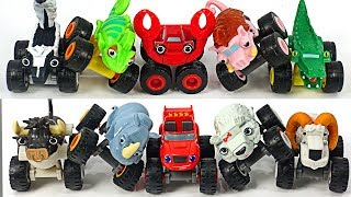 Poachers catch animals! Blaze and The Monster Machines! Transform into animal car! #DuDuPopTOY