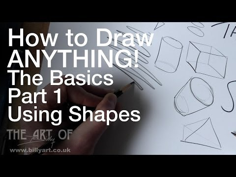How to Draw Anything! The Basics Part 1 Shapes: Narrated Step by Step