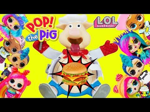 POP The Pig Game LOL Surprise Big Sister Big Brother Teams Toy Surprises