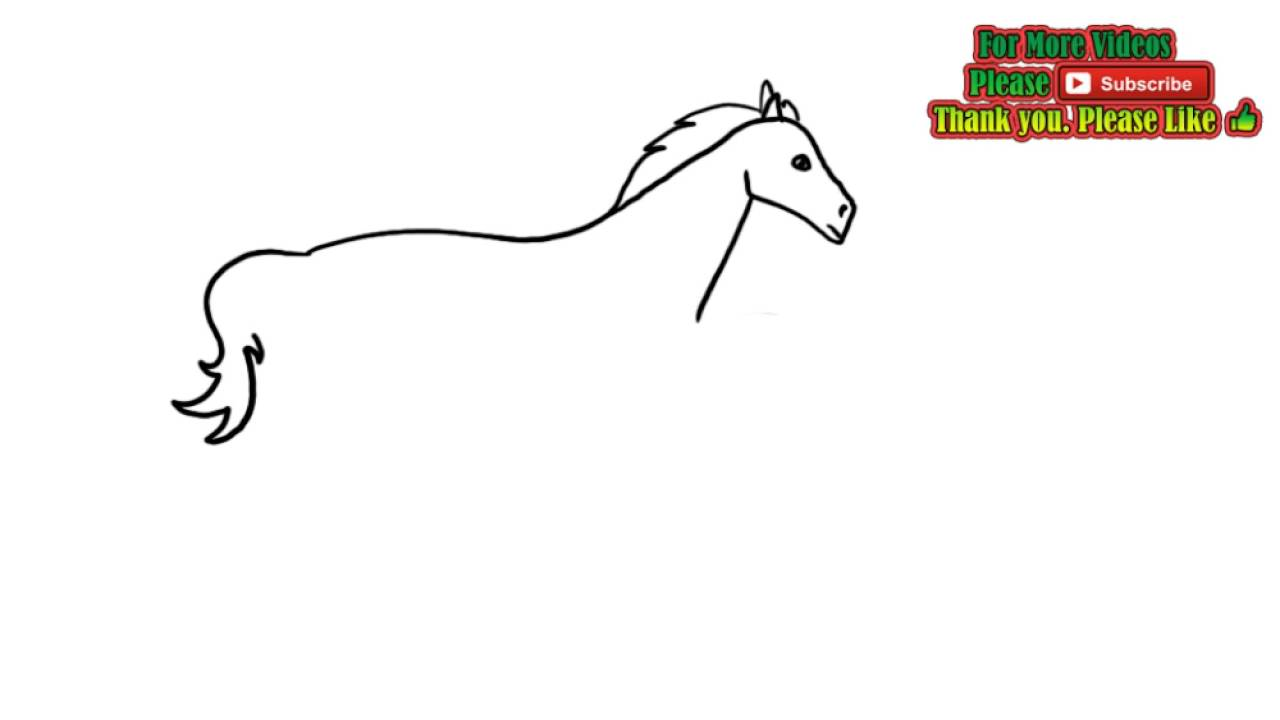 how to draw a horse youtube easy
