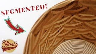 Making a Segmented Plywood bowl / Plywood bowl experiment #2