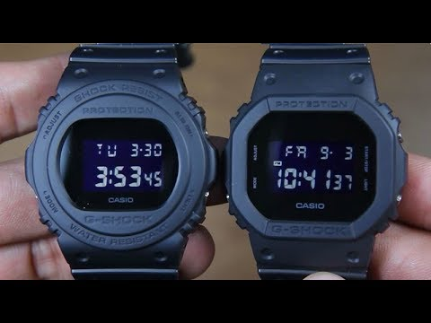 CASIO G-SHOCK DW-5750E-1B VS G-SHOCK DW-5600BB-1 - YouTube 1ebf794c4a