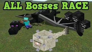 Minecraft Xbox 360 Survival - ALL 3 Bosses  RACE