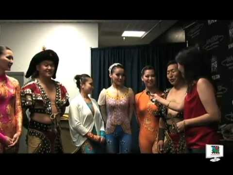 Mongolian circus actors and actresses in Ringling Bro circus USA