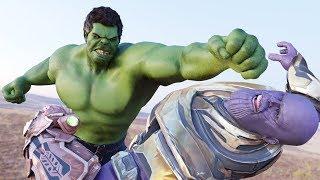 Avengers Endgame (2019)- Best Ending - Hulk VS Thanos VS Iron man