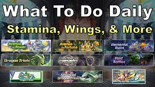 Dragalia Lost - What To Do Daily: Stamina, Getherwings, & More