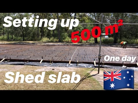 How To Set Up A 500 M² Concrete Shed Slab