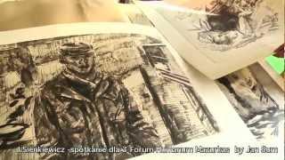 Janusz Sienkiewicz - rozmowa wokół twórczości w domu artysty - materiał filmowy III FHM 1