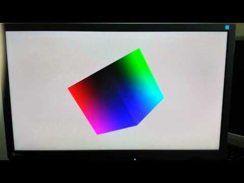 kmscube running on NVIDIA Jetson TK1