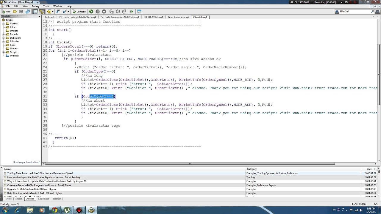 MQL4 CodeBase ที่สำหรับไว้ศึกษา code