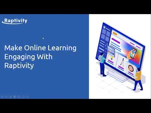 Raptivity Demo - Make Online Learning Engaging with Raptivity