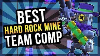 Best Hard Rock Mine Team Comp! Top 100 Gem Grab Gameplay [Brawl Stars]