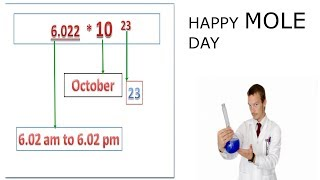 23rd October || Mole Day || by what is today?