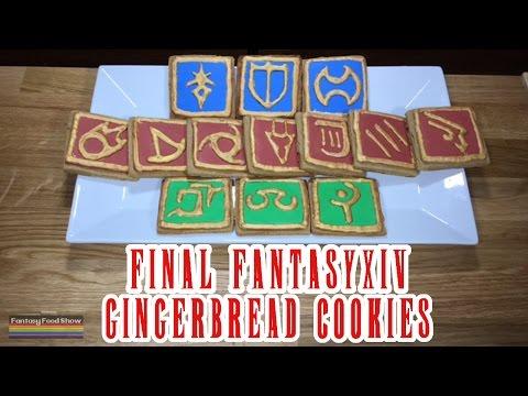FINAL FANTASY XIV GINGERBREAD COOKIES, Fantasy Food Show - Episode 5