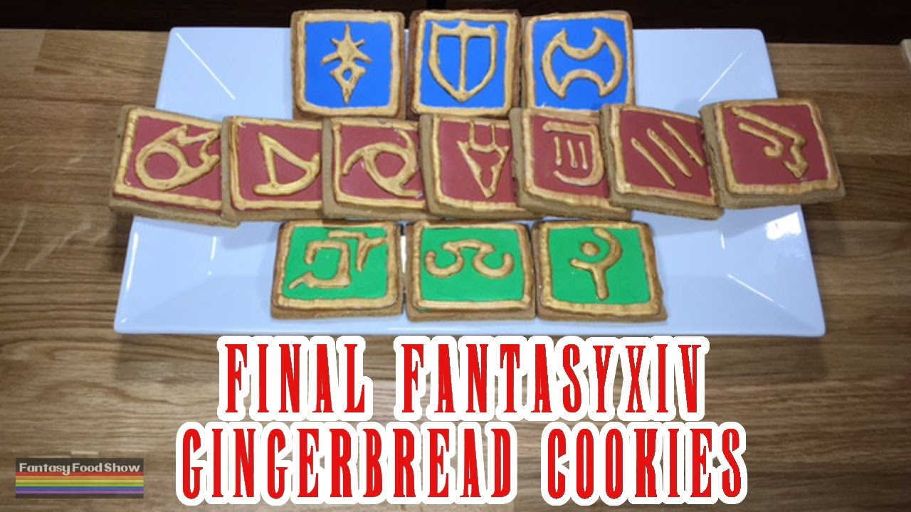 Final Fantasy Xiv Gingerbread Cookies Fantasy Food Show Episode 5