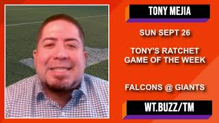 NFL Picks and Predictions | Falcons vs Giants Betting Preview | Ratchet NFL Free Play w/ Tony Mejia