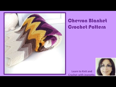 Chevron Blanket Crochet Pattern - YouTube
